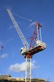 Building site. A building site with a big crane Royalty Free Stock Image