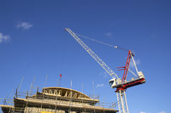 Building site. A building site with a big crane Royalty Free Stock Photo