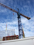 Building Site 2. This is a crane in a building site in the London Docklands Royalty Free Stock Images