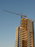 Building Site. With a crane towering over it Stock Image
