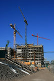 Building Site. A picture of a building site wit cranes Royalty Free Stock Photos