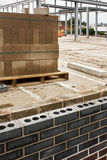 Building site. Builders construction site with walls partly constructed Royalty Free Stock Photography