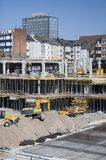 Building site. A building site with some machines Royalty Free Stock Photo