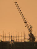 Building site. At the sunset Royalty Free Stock Images