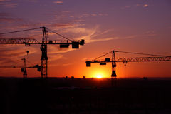 Building site 8. A building site at sunset Stock Photography