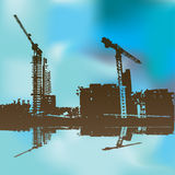 Building Site Background Royalty Free Stock Images