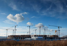 Building site of the Baltic Arena. Football stadium - Gdansk, Poland Royalty Free Stock Photos