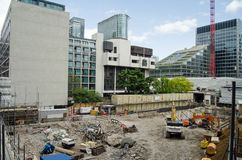 Building site, Barbican, City of London Royalty Free Stock Photos