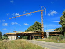 Building site bridge Royalty Free Stock Photo