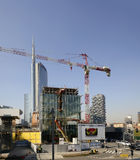 Building site at business hub, MILAN Royalty Free Stock Photography