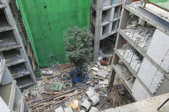 Building site with concrete under construction Stock Photos