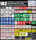 Building site, construction environments, Hazard warning attenti Stock Photos