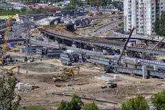 Building site,  construction viaduct transport interchanges, Rus Stock Photography