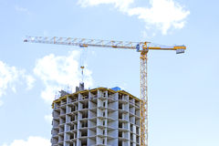 Building site with crane Royalty Free Stock Photography