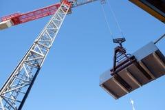 Building site crane under blue sky Royalty Free Stock Photo