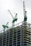 Building site with crane Stock Photos