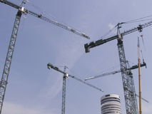 Building site with cranes Stock Image
