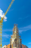 Building Site With Cranes Against Blue Skies. HDR Image Royalty Free Stock Photo
