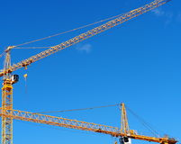 Building Site With Cranes Stock Photography