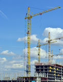 Building site with cranes Royalty Free Stock Photography