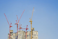 Building site with cranes Stock Photo