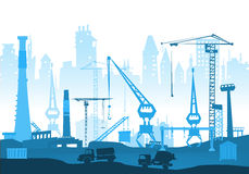 Building site with cranes. City background Stock Photography