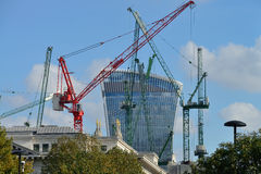 Building site with cranes, London Royalty Free Stock Image