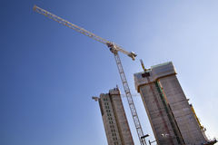 Building site with cranes, London Stock Images