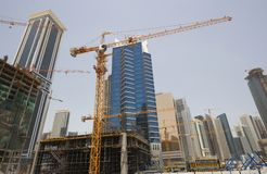Building site in Doha Royalty Free Stock Images