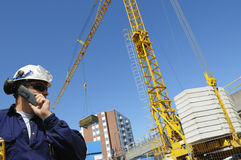 Building site and engineer Royalty Free Stock Images