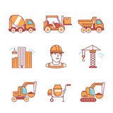 Building site engineering and machinery royalty free illustration