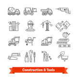 Building site engineering and tools set Royalty Free Stock Photo