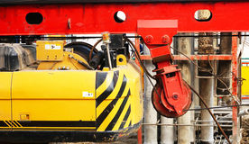 Building site and excavator royalty free stock photo
