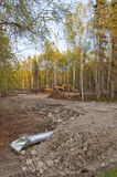 Building site in forest Stock Photos