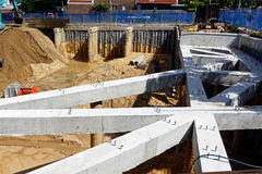 Building Site Foundations Stock Images
