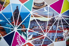 Building site Hoarding on the island of Madeira Portugal. Stylish  hoarding covering a building site in Funchal Madeira, Portugal Royalty Free Stock Photo