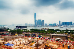 Building Site in Hong Kong Royalty Free Stock Photography