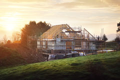 Building site with house under construction Stock Photography