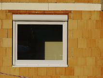Building site house window brick wall glass Stock Image