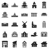 Building site icons set, simple style Stock Photography