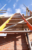 Building site ladder. Attached to scaffolding Royalty Free Stock Images
