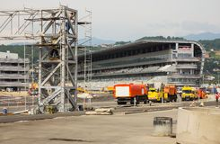 Building site of line the Formula 1 in Sochi Stock Images