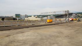 Building site of a line the Formula 1 in Sochi in Russia in 2014 Stock Image