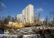 A building site, Moscow, Russia Stock Photo