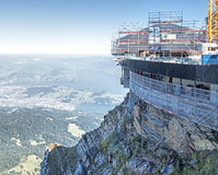 Construction site on Mt. Pilatus Stock Images