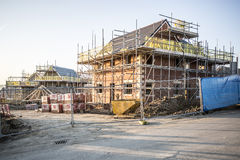 Building site with new homes Stock Photography