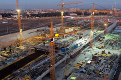 Building site at night Stock Photography