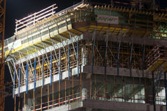 Building site by night Royalty Free Stock Photo