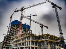building site of an office building stock photography