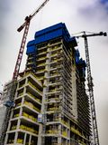 building site of an office building royalty free stock photo